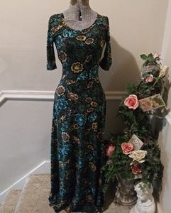NWOT Lularoe Ana Black Floral Maxi Dress